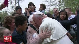 Papa Francesco prima parte visita a Corviale 2018-04-15