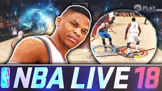 NBA LIVE 18 EXCLUSIVE GAMEPLAY! INSANE ANKLE BREAKER!😱 KYRIE IRVING UNGUARDABLE!