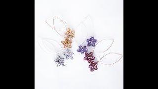 Bead Weaving Tutorial:  Tiny Star Earrings