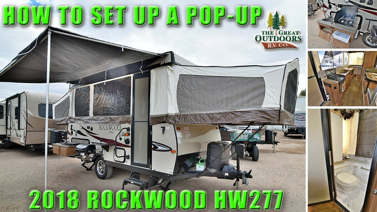hight resolution of how to popup 2018 rockwood hw277 high wall folding tent setup walkthrough rv camper colorado dealer
