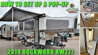 How To Popup 2018 ROCKWOOD HW277 High Wall Folding Tent Setup Walkthrough RV Camper Colorado Dealer