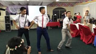 Танец жениха и его друзей #erzhenaigorwed