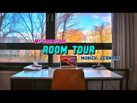 My €300 STUDENT DORMITORY ROOM TOUR   Munich, Germany