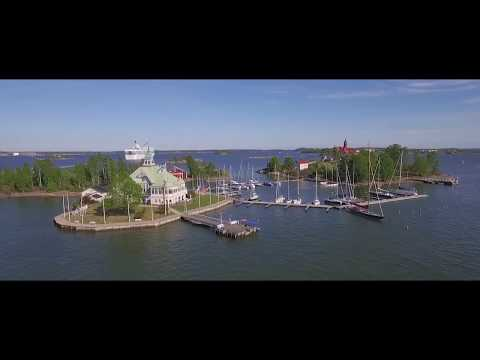 Silja Line passenger ferry departing from Helsinki city center - Drone footage. Edited with iPad.