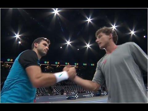 Grigor Dimitrov vs. Pablo Carreno-Busta 6-4, 6-1 BNP Paribas Masters Paris (R64) 02.11.2015.
