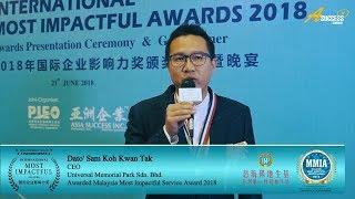 MIA2018 Winner Interview - Universal Memorial Park Sdn Bhd