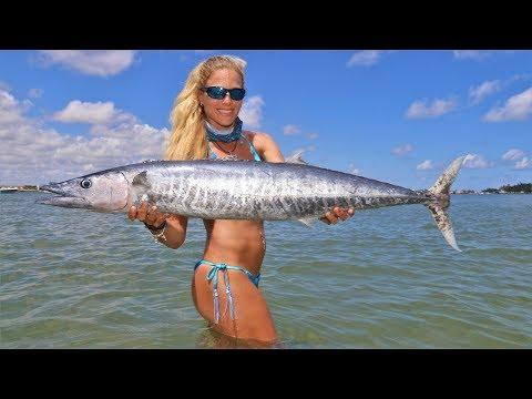 Offshore WAHOO Fishing and Sandbar Party Video