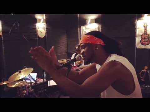 """Psquare """"Rude Boy"""", shows off his voice as he sings with his girl band."""