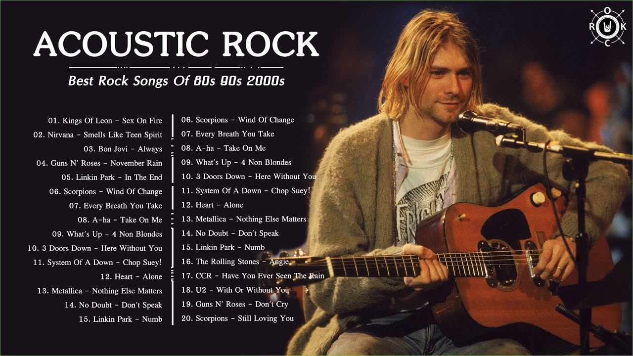 Acoustic Rock Songs 80s 90s 2000s Best Rock Music Ever Playlist Youtube