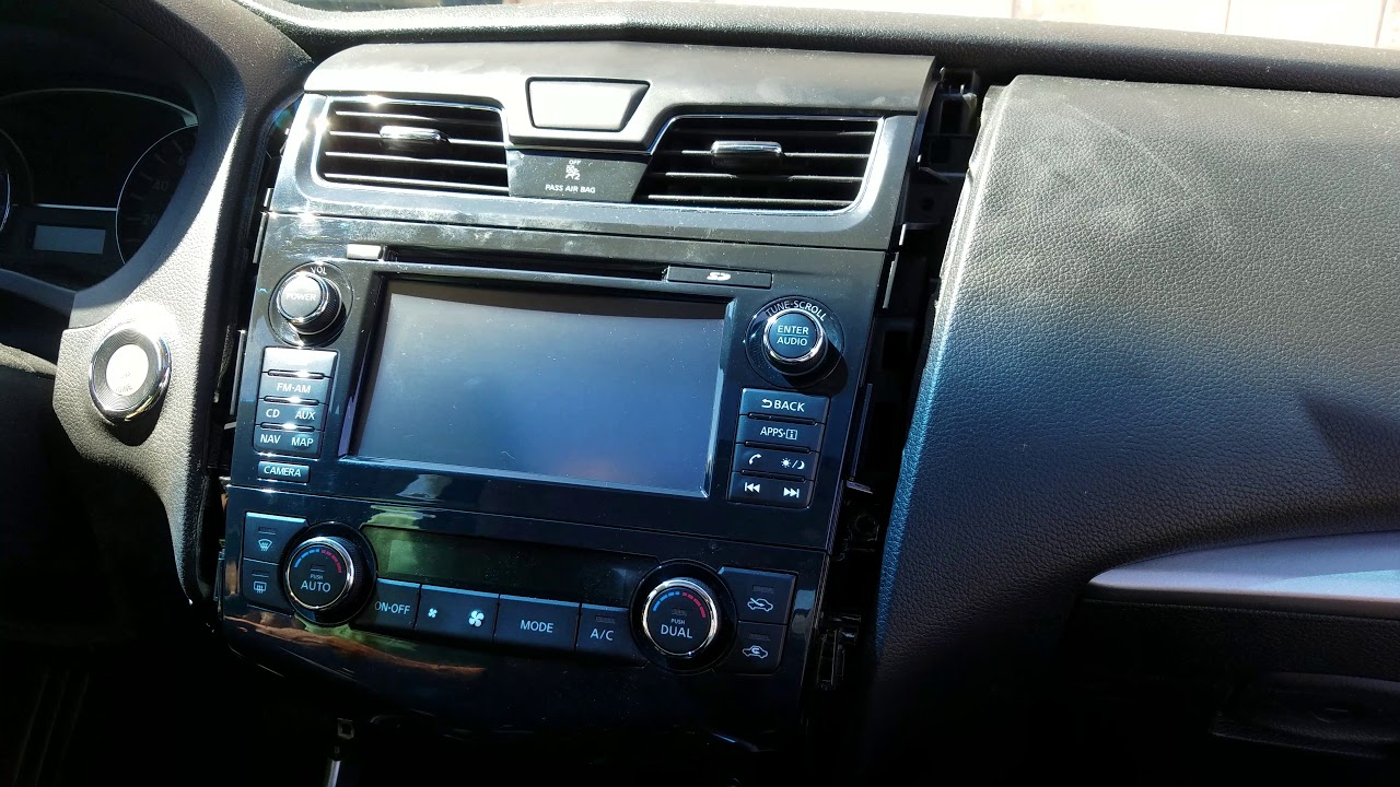 How To Remove Radio Navigation Display From Nissan Altima 2017 For Repair