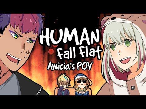 #1【Human: Fall Flat】Nontonin Orang Gelud Aja【NIJISANJI ID | Amicia Michella】