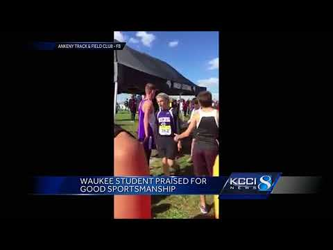 Iowa athlete praised for his sportsmanship