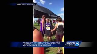 Watch Waukee student Kyle Ruby stay at the finish line of a recent ...