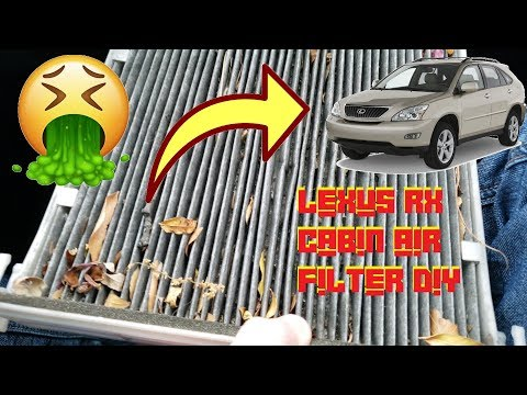 How To Replace Cabin Air Filter In 2nd Generation Lexus RX Quick Detailed DIY (RX330, RX350, RX400H)