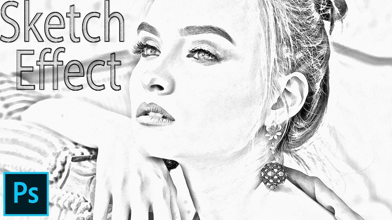 Adobe photoshop tutorial how to create pencil sketch effect