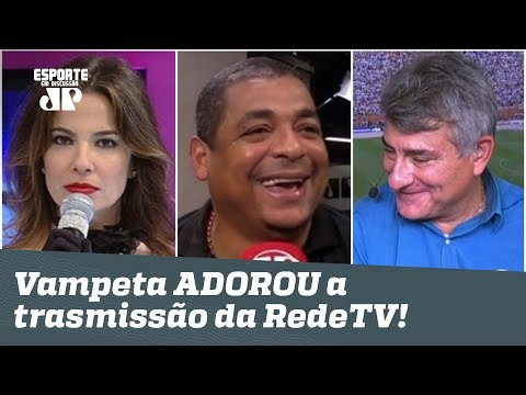 Ele é F OLHA o que Vampeta falou do Corinthians na RedeTV e não na Globo