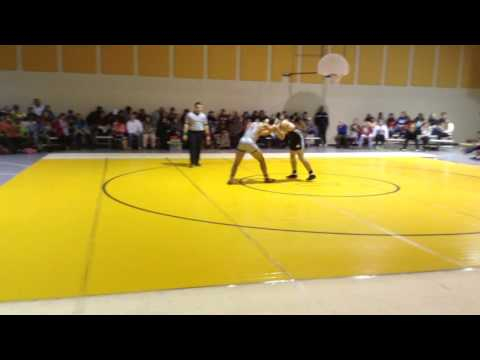 """T"" Coley wrestling at Dadeville High School"