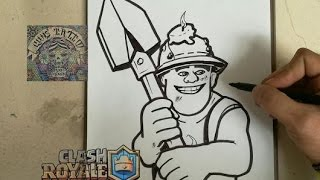 COMO DIBUJAR A MINERO - CLASH ROYALE / how to draw miner - clash royale