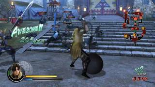 Sengoku Basara Samurai Heroes | Kuroda gameplay trailer (2010)