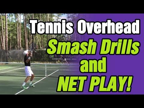 Tennis Overhead Smash Drills And Net Play - Tom Avery Tennis