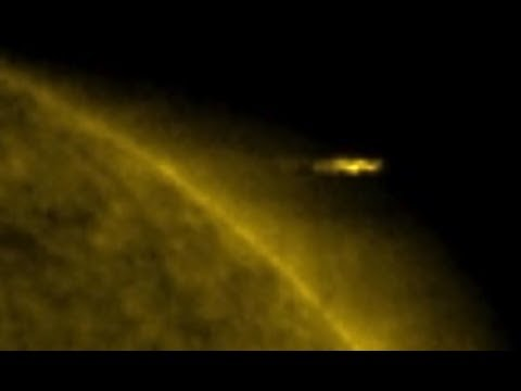 NASA's Solar and Heliospheric Observatory Spots UFO Flying Out of The Sun