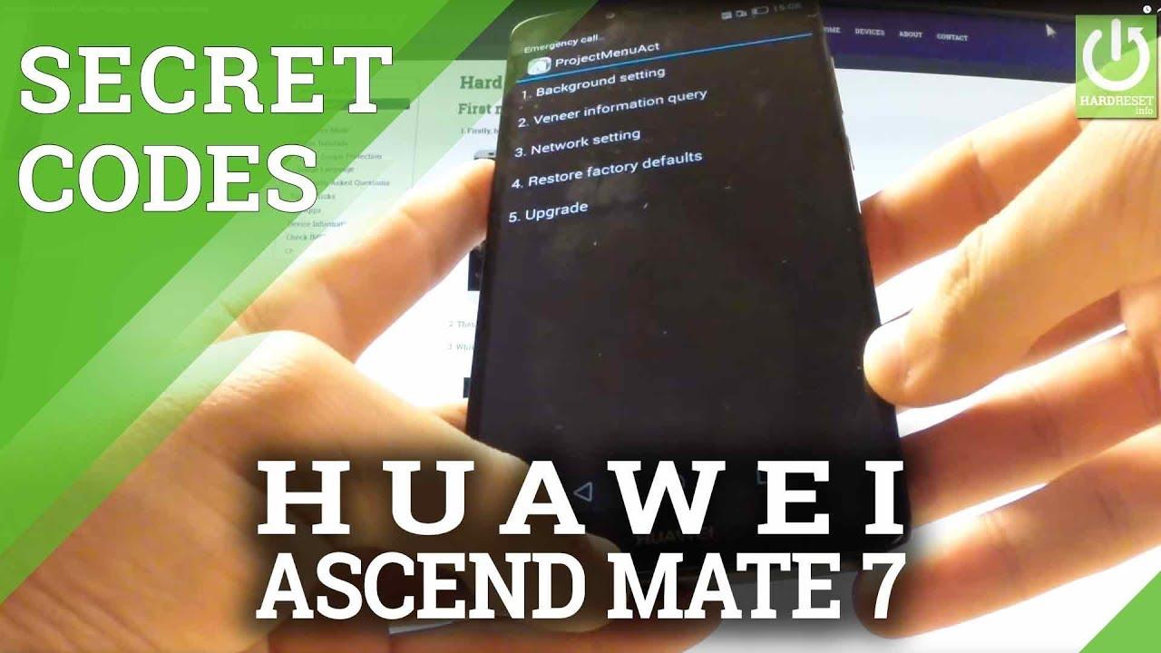 HUAWEI Ascend Mate 7 SECRET CODES / TRICKS / HIDDEN MENU