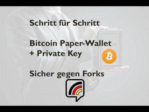 Bitcoin Paper-Wallet erstellen, befüllen & nutzen - sicher gegen Forks