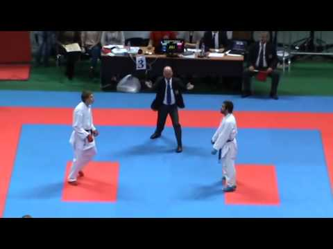 Rafael Aghayev 2 nd WSKU European Karate Championships -75kg Final male