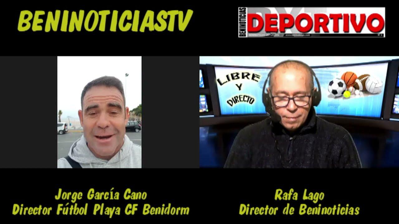 Entrevista a Jorge García Cano, nuevo director de la sección de fútbol playa del CF Benidorm