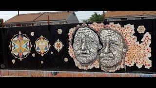 Graffiti Art Murals, Logan Square Chicago Part 1
