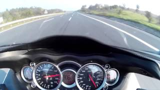 Hayabusa top speed 300+ km/h rev limiter @11k on 6th gear