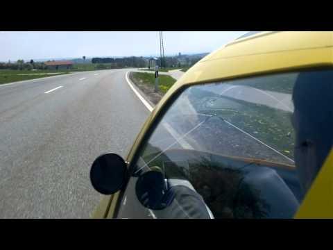 Leiba classic velomobile downhill in upper bavaria