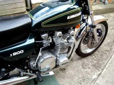 kawasaki z900 A4 1976. GREEN. - YouTube