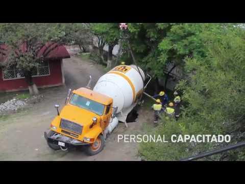 Rescate de revolvedora de concretos técnicos en un socavón
