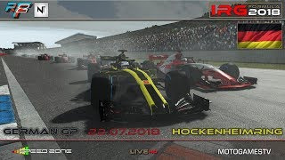 rFactor 2 – IRG Formula 2018 – ROUND 8 – German GP / Hockenheimring - LIVESTREAM