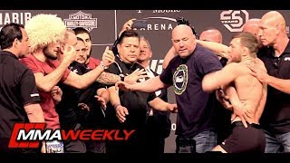 Download UFC 229 Khabib vs Conor McGregor Ceremonial Weigh-In Comes to Blows Mp3 and Videos