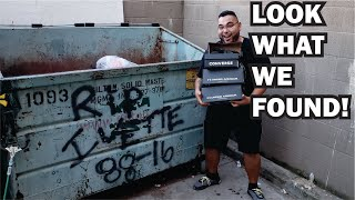FIRST TIME DUMPSTER DIVING!!