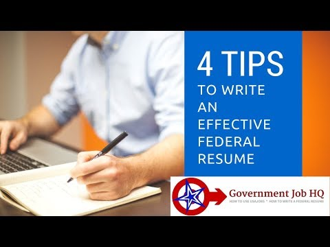 4 Tips To Write An Effective Federal Resume