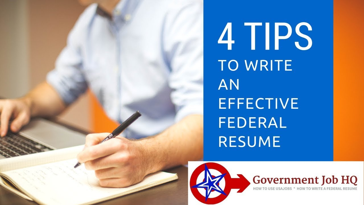 4 Tips To Write An Effective Federal Resume Youtube