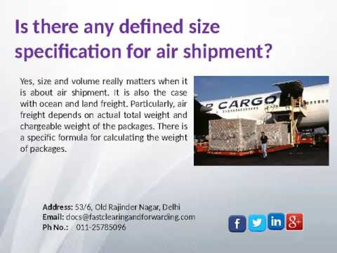 Services Offered by Cargo Shipping Company India