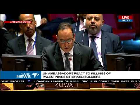 United Nations ambassadors react to killings of Palestinians by Israelis