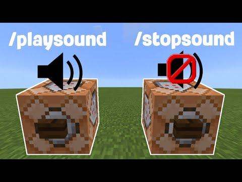 Как использовать команду /playsound и /stopsound в Майнкрафт ПЕ | Как воспроизвести ЛЮБОЙ звук