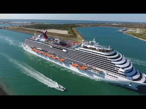 Chasing Cruise Ships In Port Canaveral Florida