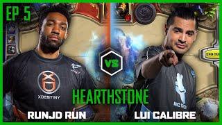EP 5 | HEARTHSTONE | Lui Calibre vs runJDrun | Legends of Gaming