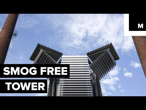 Giant air purifier in China