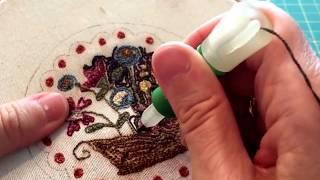 aprender a bordar a mano puntos de bordado, video tutorial aprender a bordar, agua mágica.