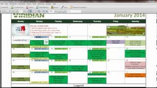 Team Calendar:  January 2014