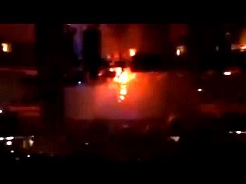 Rihanna concert up in flames