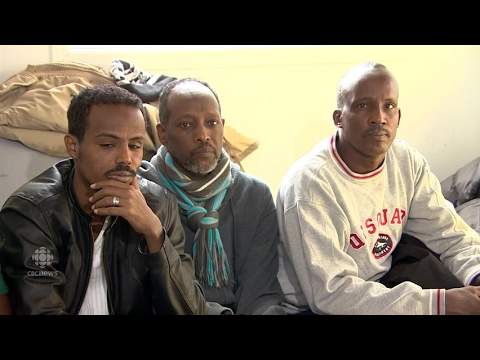 Asylum seekers from Djibouti arrive in Winnipeg