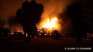 03.08.2018 Voldsom brand på gods, Føllenselv
